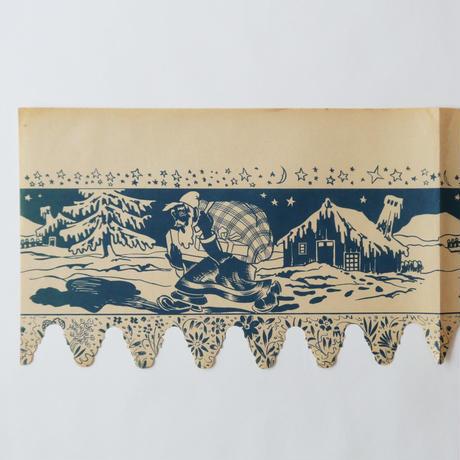 ヴィンテージの棚紙 / サンタクロース