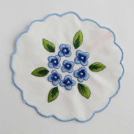 サン・ジョルジェ島の刺繍のコースター/アジサイ