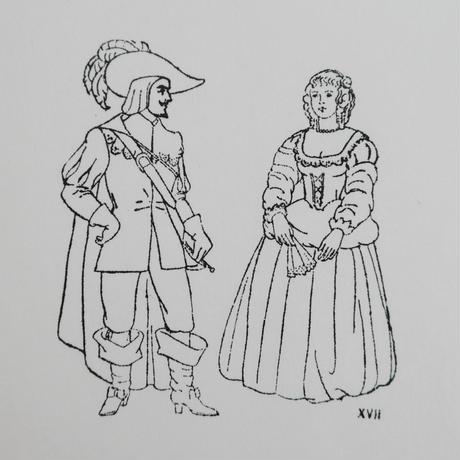 ポルトガルのヴィンテージスタンプ/17世紀のカップル