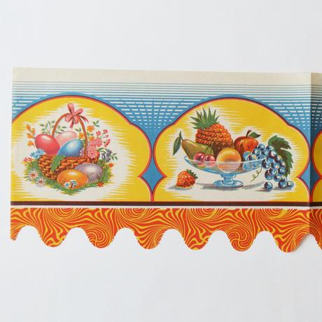 ヴィンテージの棚紙 / 感謝祭の卵とフルーツ