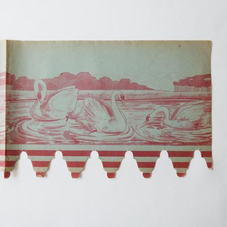 ヴィンテージの棚紙 / 白鳥