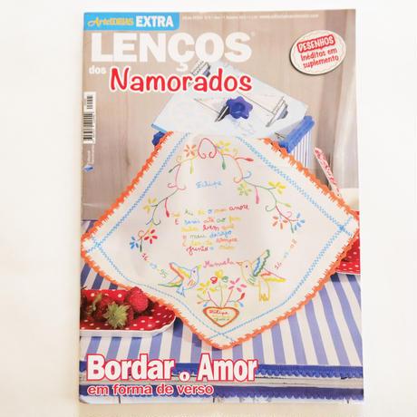 恋人たちのハンカチ刺繍 Arte IDEIAS/ Lenços dos Namorados  No.5