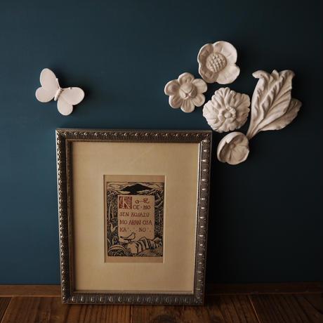 漆喰のオーナメント/花畑のリーフ