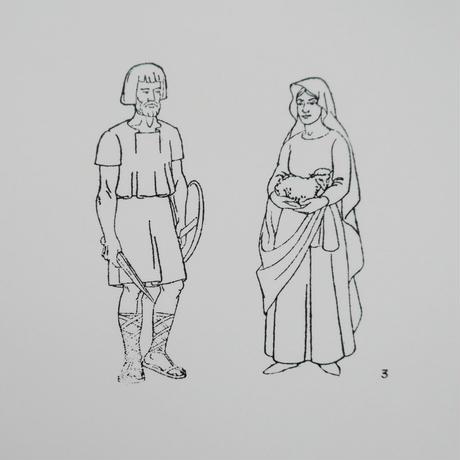 ポルトガルのヴィンテージスタンプ/古代ローマのカップル