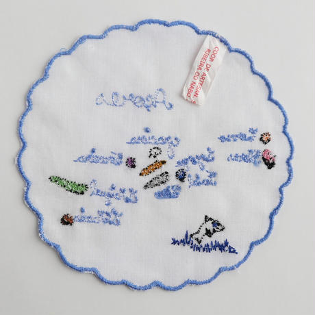 サン・ジョルジェ島の刺繍のコースター/アソーレスの島々