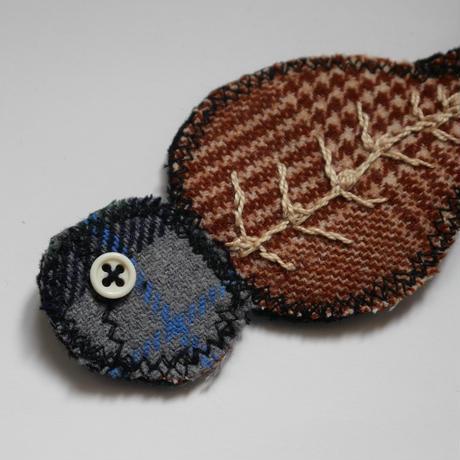 ナザレの干物のキーホルダー/ブルー&ブラウン