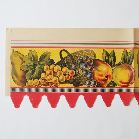ヴィンテージの棚紙 / フルーツ