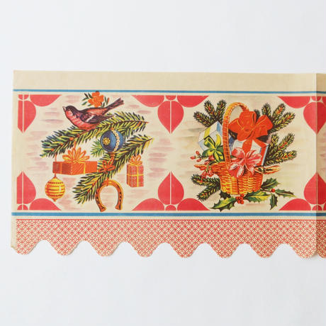 ヴィンテージの棚紙 / クリスマスの贈り物