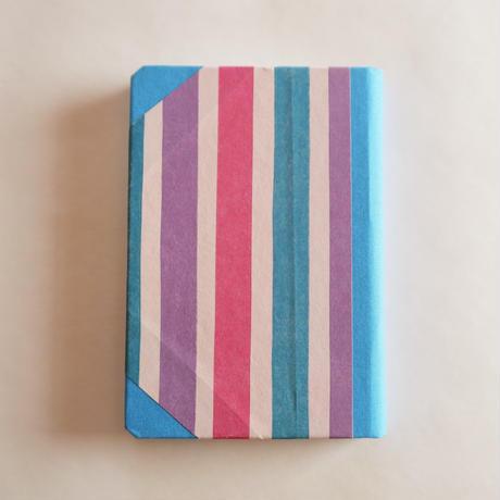 エミリオ・ブラガの手作りノート/ストライプ・小