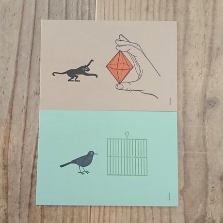 活版印刷のカードセット