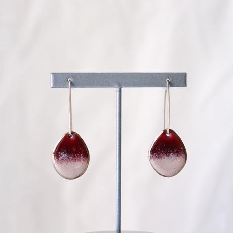 Wire Stone Earrings (Strawberry Wine)