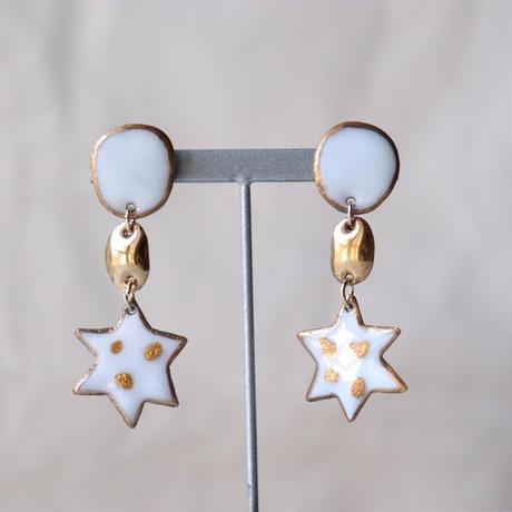 Milky Star Earrings