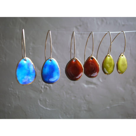 【wire stone earrings】[PEKI!RARIGON]