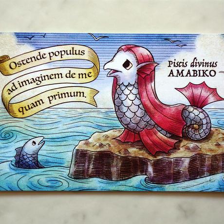 ポストカード「アマビコかく語りき」
