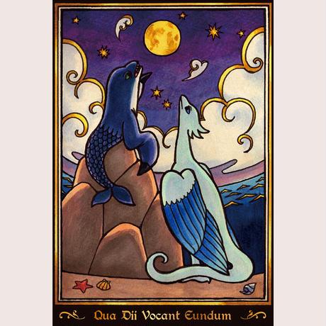 ポストカード「星月夜」