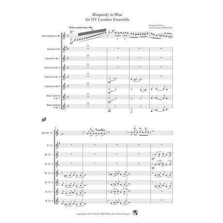 George Gershwin Rhapsody in Blue for Clarinet Ensemble