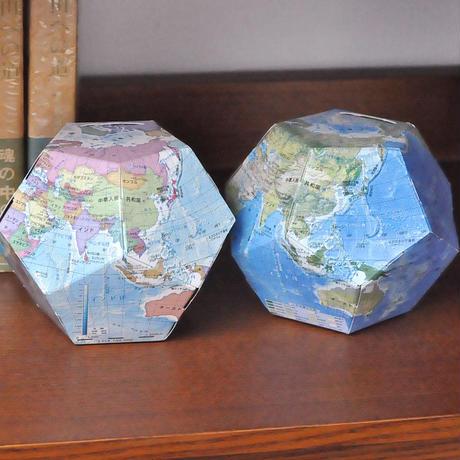 ペーパークラフトで作る地球儀貯金箱 地球地図