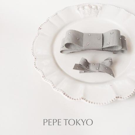【スワロフスキー】日本製グレーの親子お揃いセット