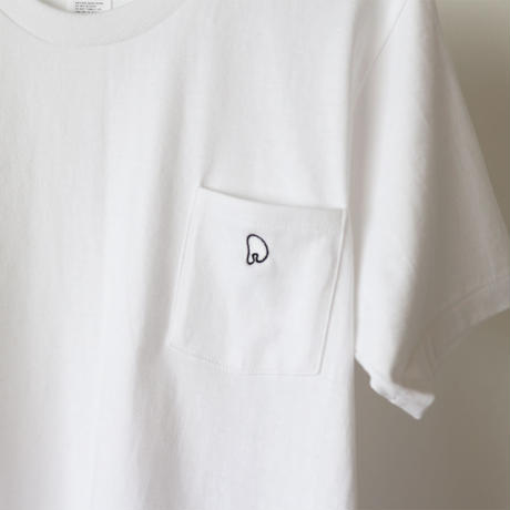 PERHAPS LOGO POCKET T-SHIRTS[WHITE]