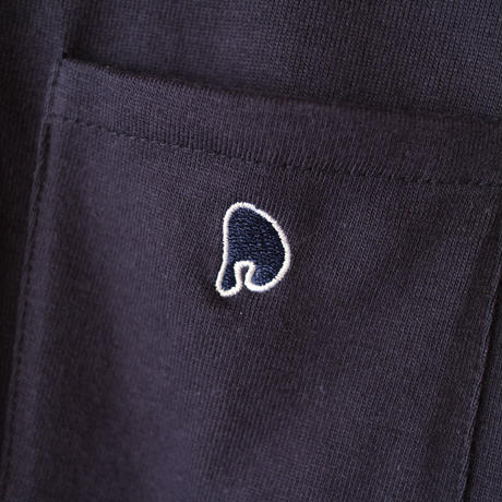 PERHAPS LOGO POCKET T-SHIRTS[NAVY]