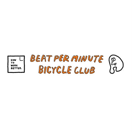 BEAT PER MINUTE BICYCLE CLUB T-SHIRTS[カメ ライトピンク]