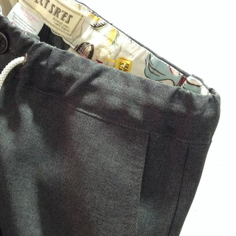 [SALE][30%OFF] PROJECT SR'ES(プロジェクトエスアールエス) / CHAMBRAY EASY PANT(シャンブレー素材イージーパンツ) / 送料無料 / 日本製
