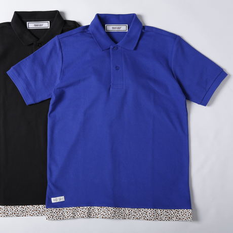 [SALE][30%OFF] PROJECT SR'ES(プロジェクトエスアールエス) / UNDER STTINGS POLO -LEOPARD-(裾(レオパード柄)切り替えポロシャツ)
