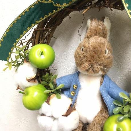 【リース】ピーターラビットのグリーンアップルクリスマス