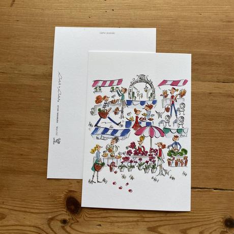 *新柄【マルシェ】*ナカムラユキイラスト ポストカード【3種類×各2枚】6枚セット
