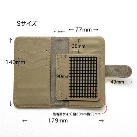 Android手帳型ケース/Mサイズ・Sサイズ【壁】(ル・ミュール)【全3色】