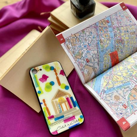 iPhone背面ガラスケース【図書館】(ビブリオテーク)iPhone12mini/ SE2(第二世代)/ 11 Pro/XS/X/7/8