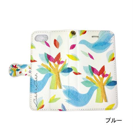iPhone手帳型ケース【鳥】(ロワゾ)【全4色】iPhone12mini/ SE2(第二世代)/11 Pro/XS/X/8/7/6S/6/SE
