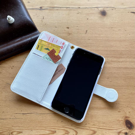 iPhone手帳型ケース【文房具】(パプトリー)【全2色】iPhone12mini/ SE2(第二世代)/ 11 Pro/XS/X/8/7/6S/6/SE