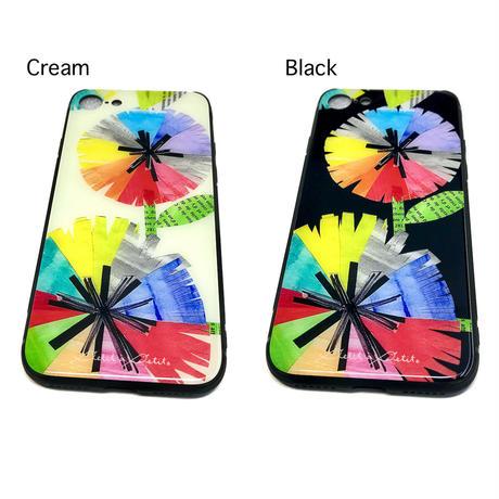 iPhone背面ガラスケース【虹花】(フルールアンシエル)(全2色)iPhone12mini/ SE2(第二世代)/11 Pro/XS/X/7/8