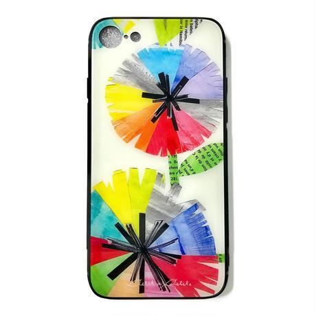 *新柄★10日でお届け【虹花】(フルールアンシエル)iphone XS/X/7/8 背面ガラスケース