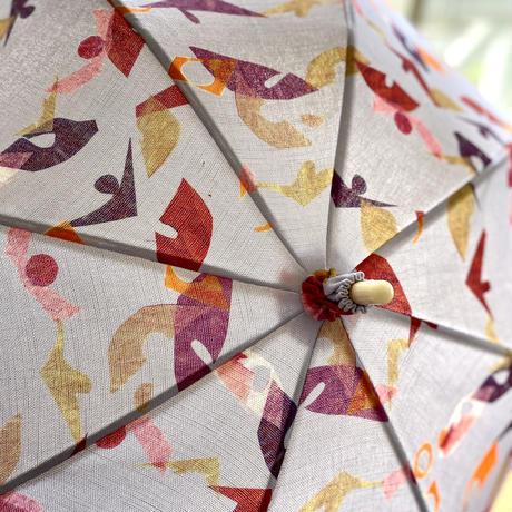 日傘(手元:白木革巻き)【葉っぱ】【花】(全3色)