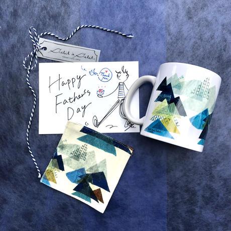 【父の日フェアー限定セット】山ブルーマグカップ+山ブルーコースター