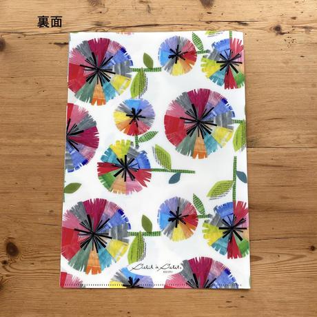【新発売】A4クリアファイル3枚セット【山エメラルド・ブルー・虹花】