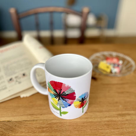 マグカップ【全4柄】【鳥ピンク・竹・虹花・チロル】