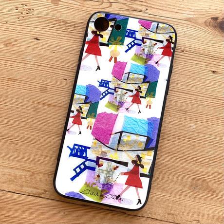 *2021夏の新柄*iPhone背面ガラスケース【ミュゼ】 iPhone12mini/ SE2(第二世代)/ 11 Pro/XS/X/7/8