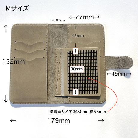 Android手帳型ケース/Mサイズ・Sサイズ【虹花】(フルールアンシエル)【全4色】