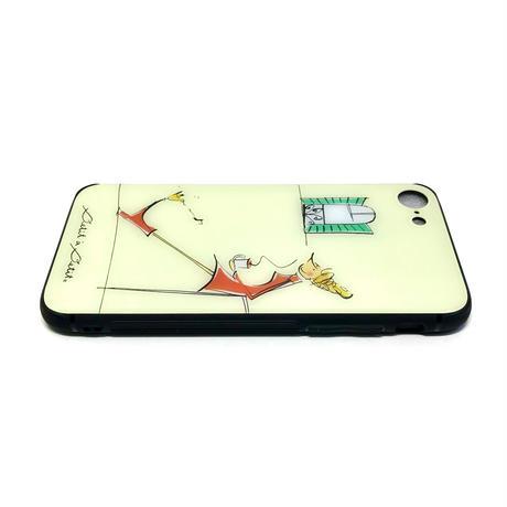 最新機種対応*iPhone背面ガラスケース【パリジェンヌシリーズ】(全3柄)iPhone13mini/12mini/ SE2(第二世代)/ 11 Pro/iphone XS/X/7/8