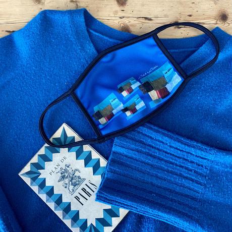【秋冬の新色新発売】*通年用*プリントマスク(虹花ピーコックブルー・ブラック・アイスブルー/壁ブルー・チロル)【全5色】