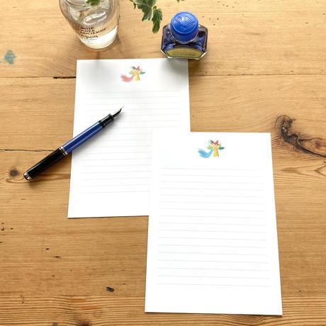 手書きの文字で伝えたい*レターセット【鳥】(ロワゾ)【全2色】
