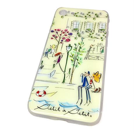 ★10日でお届け【セーヌ】iphone XS/X/7/8 背面ガラスケース