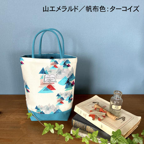 *春の新商品*帆布コンビミニトートバッグ【山】(全2色・4パターン)