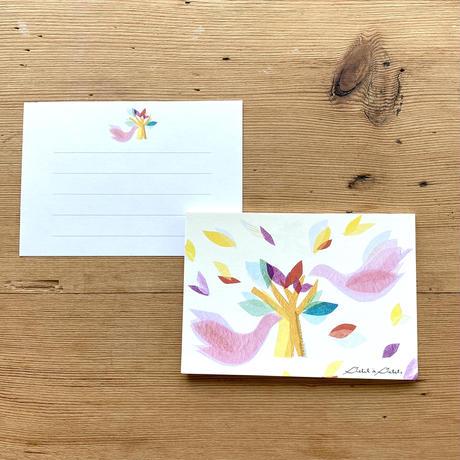 贈り物に一言添えて*一筆箋【鳥】(ロワゾ)(全2色)