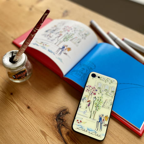 iPhone 背面ガラスケース【セーヌ】iPhone 12mini/SE2(第二世代)/ 11 Pro/XS/X/7/8