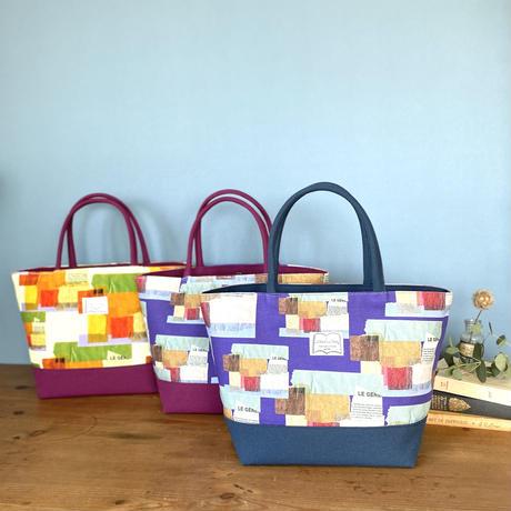 新発売*帆布コンビ[L]トートバッグ【壁】(全2色・3パターン)