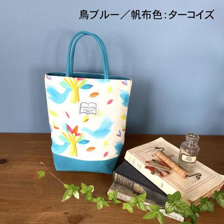 帆布コンビミニトートバッグ【鳥】(全2色・4パターン)